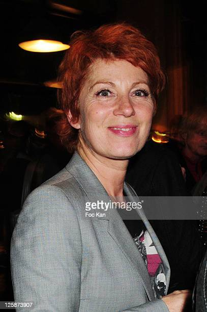 Actress Veronique Genest attends the Michael Gregorio Generale After Party at Le Bataclan Cafe on October 21 2010 in Paris France