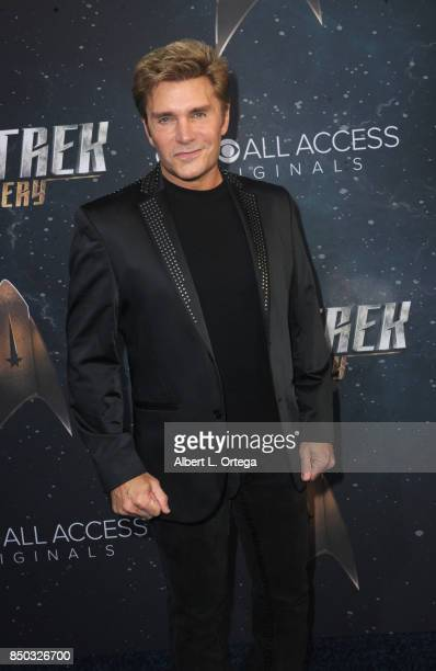 Actress Vic Mignogna arrives for the Premiere Of CBS's 'Star Trek Discovery' held at The Cinerama Dome on September 19 2017 in Los Angeles California