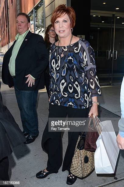 Actress Vicki Lawrence leaves the 'Anderson Live' taping at the CBS Studios on September 25 2012 in New York City