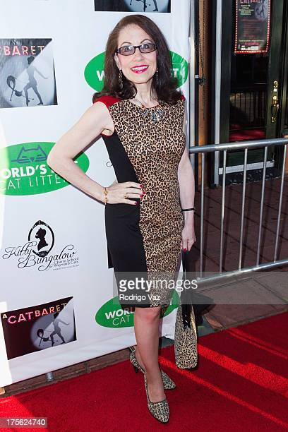 Actress Vicki Roberts arrives at 'CATberet' A Musical Review for local cat and kitten rescue center Kitty Bungalow Charm School For Wayward Cats at...