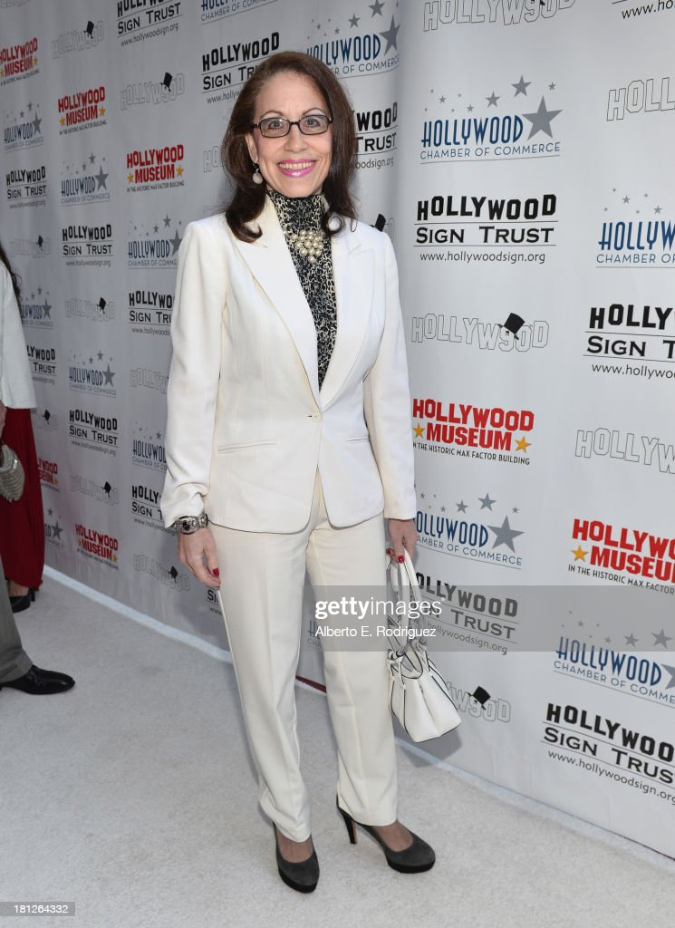 Actress <a gi-track='captionPersonalityLinkClicked' href=/galleries/search?phrase=Vicki+Roberts&family=editorial&specificpeople=242978 ng-click='$event.stopPropagation()'>Vicki Roberts</a> attends The Hollywood Chamber of Commerce & The Hollywood Sign Trust's 90th Celebration of the Hollywood Sign at Drai's Hollywood on September 19, 2013 in Hollywood, California.