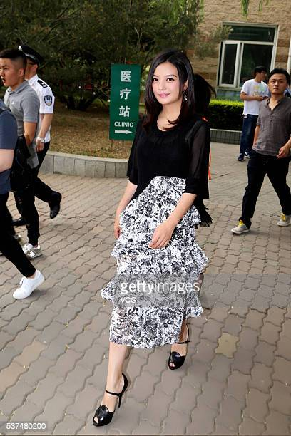 Actress Vicki Zhao Wei attends 'Care for Children Antitrafficking Children' activity on Children's Day at Chaoyang Park on June 1 2016 in Beijing...