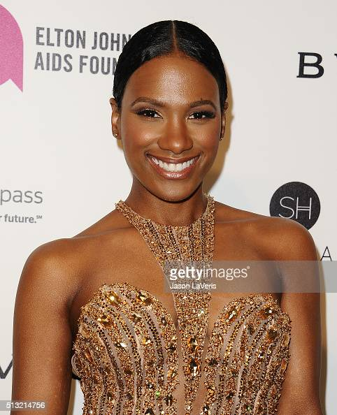 Actress Vicky Jeudy attends the 24th annual Elton John AIDS Foundation's Oscar viewing party on February 28 2016 in West Hollywood California