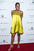 Actress Vicky Jeudy attends the 'Criminal' New York Premiere at AMC Loews Lincoln Square 13 theater on April 11 2016 in New York City