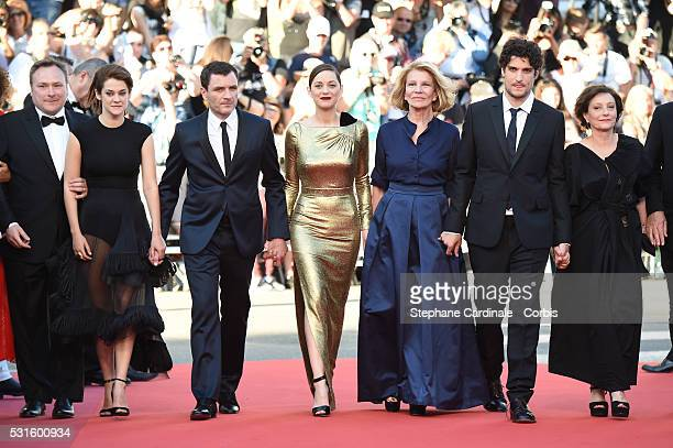 Actress Victoire Du Bois actor Alex Brendemuhl actress Marion Cotillard director Nicole Garcia and actress Brigitte Rouan attend the 'From The Land...