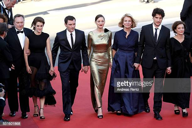 Actress Victoire Du Bois actor Alex Brendemuhl actress Marion Cotillard director Nicole Garcia actor Louis Garrel and actress Brigitte Rouan attend...
