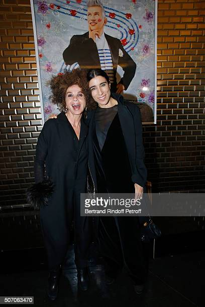 Actress Victoria Abril and Choreographer Blanca Li attend the Jean Paul Gaultier Spring Summer 2016 show as part of Paris Fashion Week on January 27...