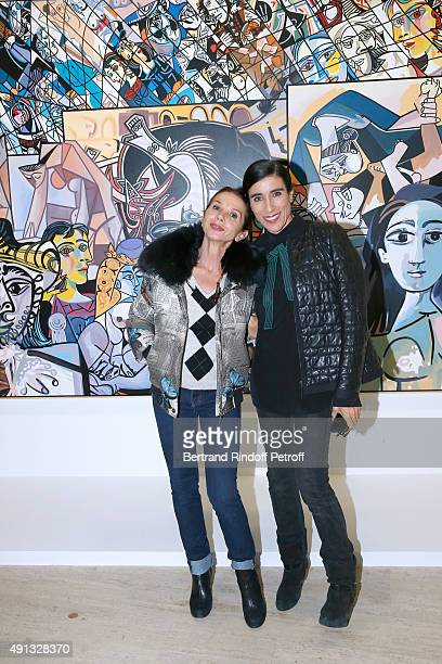 Actress Victoria Abril and Choreographer Blanca Li attend the 'Picasso Mania' Press Preview Held at Grand Palais on October 4 2015 in Paris France