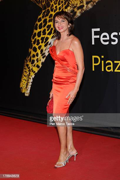 Actress Victoria Abril attends a photocall during the 66th Locarno Film Festival on August 10 2013 in Locarno Switzerland