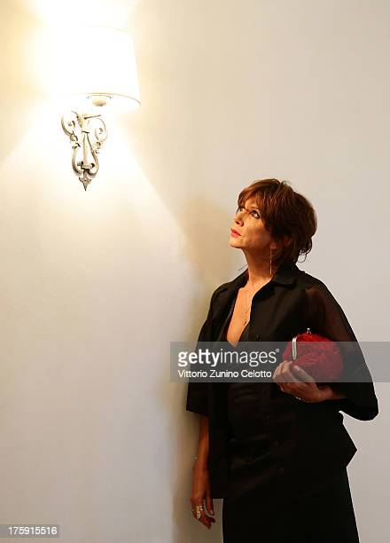 Actress Victoria Abril poses for a portrait during the 66th Locarno Film Festival on August 9 2013 in Locarno Switzerland