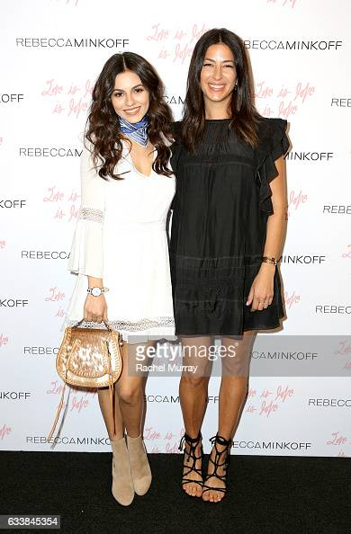 """Actress Victoria Justice and designer Rebecca Minkoff attended designer Rebecca Minkoff's Spring 2017 """"See Now Buy Now"""" Fashion Show at The Grove on..."""
