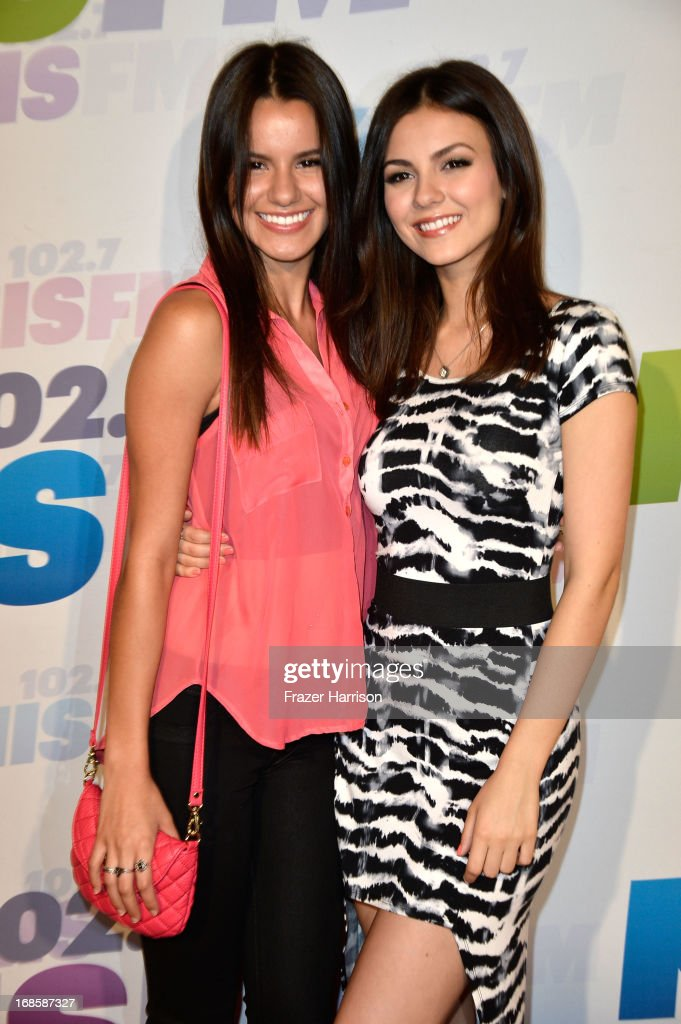 Actress <a gi-track='captionPersonalityLinkClicked' href=/galleries/search?phrase=Victoria+Justice&family=editorial&specificpeople=569887 ng-click='$event.stopPropagation()'>Victoria Justice</a> and sister Madison Grace Reed attend 102.7 KIIS FM's Wango Tango 2013 held at The Home Depot Center on May 11, 2013 in Carson, California.