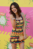 Actress Victoria Justice arrives at Nickelodeon's 26th Annual Kids' Choice Awards at USC Galen Center on March 23 2013 in Los Angeles California