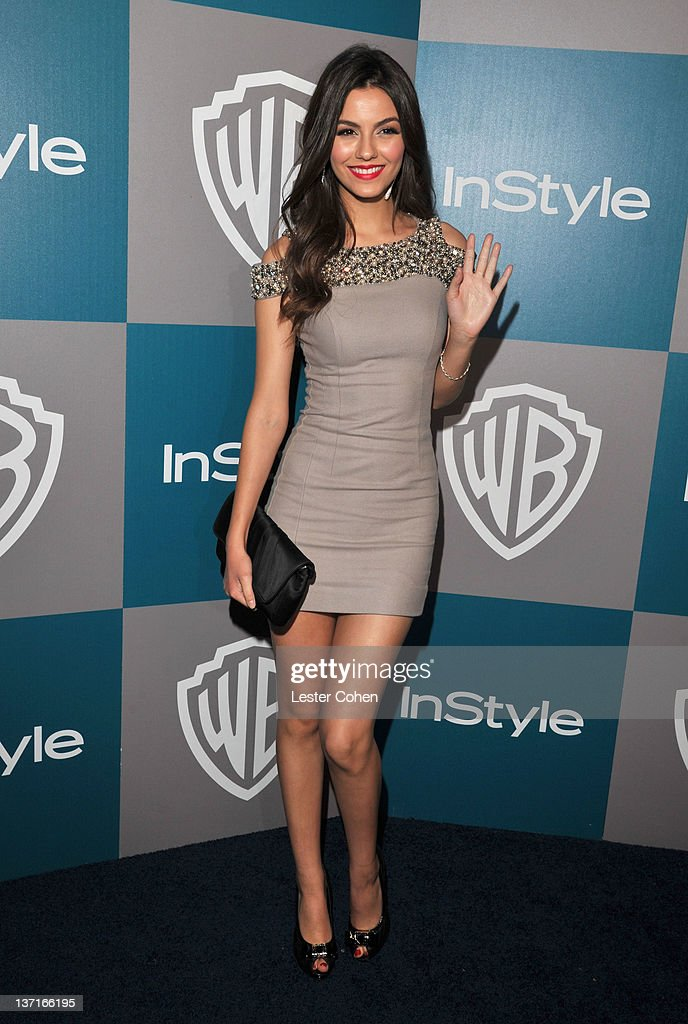 Actress <a gi-track='captionPersonalityLinkClicked' href=/galleries/search?phrase=Victoria+Justice&family=editorial&specificpeople=569887 ng-click='$event.stopPropagation()'>Victoria Justice</a> arrives at the 13th Annual Warner Bros. and InStyle Golden Globe After Party held at The Beverly Hilton hotel on January 15, 2012 in Beverly Hills, California.