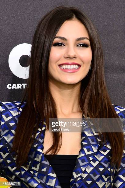 Actress Victoria Justice arrives at the 4th Annual Cartoon Network Hall Of Game Awards at Barker Hangar on February 15 2014 in Santa Monica California