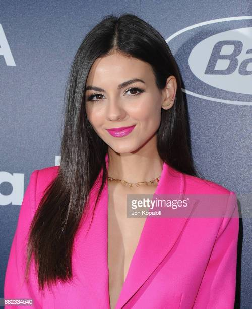 Actress Victoria Justice arrives at the Inaugural GLAAD Rising Stars Luncheon at The Beverly Hilton Hotel on March 31 2017 in Beverly Hills California