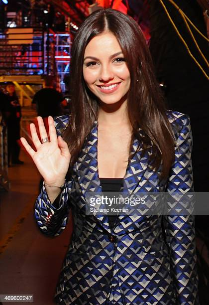 Actress Victoria Justice attends Cartoon Network's fourth annual Hall of Game Awards at Barker Hangar on February 15 2014 in Santa Monica California
