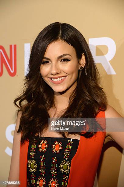 Actress Victoria Justice attends CNN Heroes 2015 Red Carpet Arrivals at American Museum of Natural History on November 17 2015 in New York City...