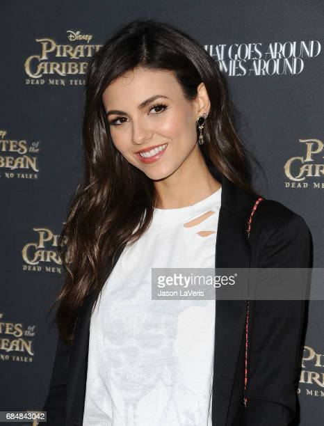 Actress Victoria Justice attends Disney's 'Pirates of the Caribbean Dead Men Tell No Tales' What Goes Around Comes Around event at What Goes Around...
