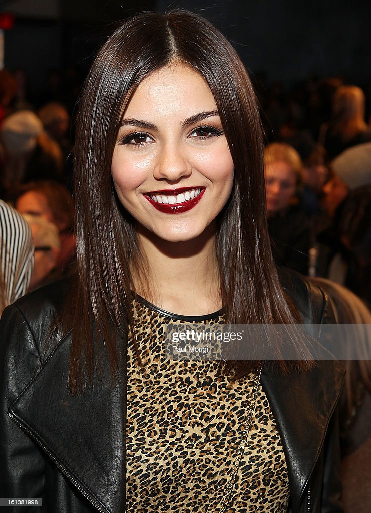 Actress <a gi-track='captionPersonalityLinkClicked' href=/galleries/search?phrase=Victoria+Justice&family=editorial&specificpeople=569887 ng-click='$event.stopPropagation()'>Victoria Justice</a> attends DKNY Women's during Fall 2013 Mercedes-Benz Fashion Week on February 10, 2013 in New York City.