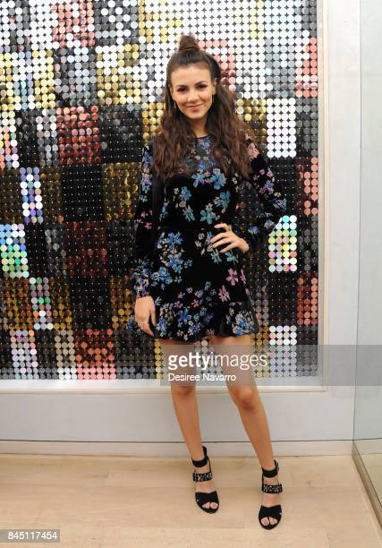 Actress Victoria Justice attends Rebecca Minkoff fashion show during New York Fashion Week at Rebecca Minkoff on September 9 2017 in New York City