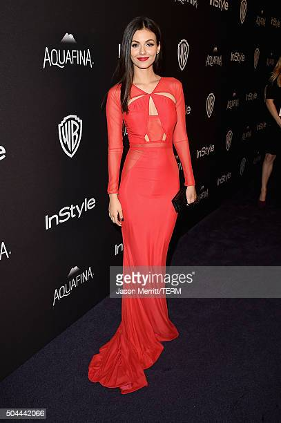 Actress Victoria Justice attends The 2016 InStyle And Warner Bros 73rd Annual Golden Globe Awards PostParty at The Beverly Hilton Hotel on January 10...