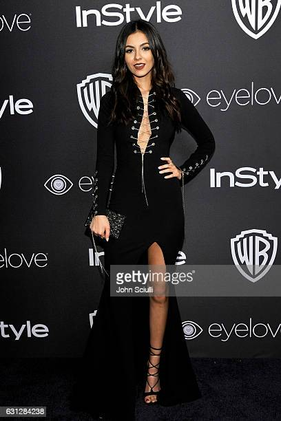Actress Victoria Justice attends The 2017 InStyle and Warner Bros 73rd Annual Golden Globe Awards PostParty at The Beverly Hilton Hotel on January 8...