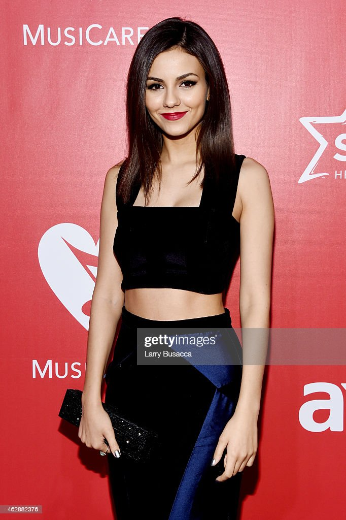 Actress Victoria Justice attends the 25th anniversary MusiCares 2015 Person Of The Year Gala honoring Bob Dylan at the Los Angeles Convention Center on February 6, 2015 in Los Angeles, California. The annual benefit raises critical funds for MusiCares' Emergency Financial Assistance and Addiction Recovery programs. For more information visit musicares.org.