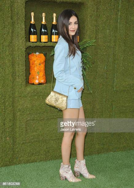 Actress Victoria Justice attends the 8th annual Veuve Clicquot Polo Classic at Will Rogers State Historic Park on October 14 2017 in Pacific...