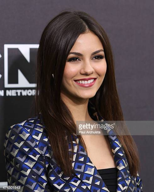 Actress Victoria Justice attends the Cartoon Network's Hall Of Game Awards at Barker Hangar on February 15 2014 in Santa Monica California