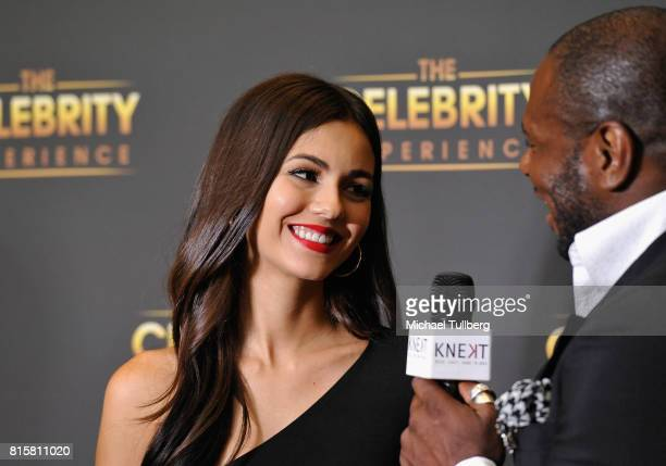 Actress Victoria Justice attends 'The Celebrity Experience' interactive event at Hilton Universal Hotel on July 16 2017 in Los Angeles California
