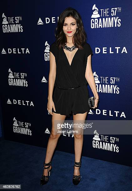 Actress Victoria Justice attends the Delta Air Lines toast to the 2015 GRAMMY weekend at Soho House on February 5 2015 in West Hollywood California