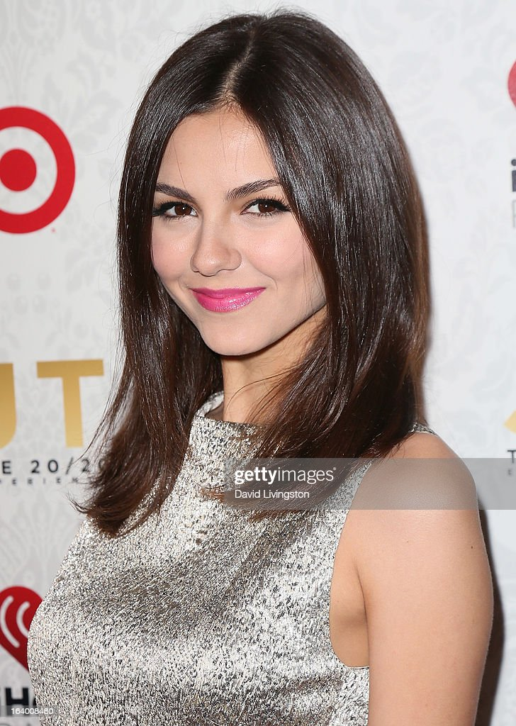 Actress Victoria Justice attends the iHeartRadio '20/20' album release party with Justin Timberlake presented by Target at the El Rey Theatre on March 18, 2013 in Los Angeles, California.