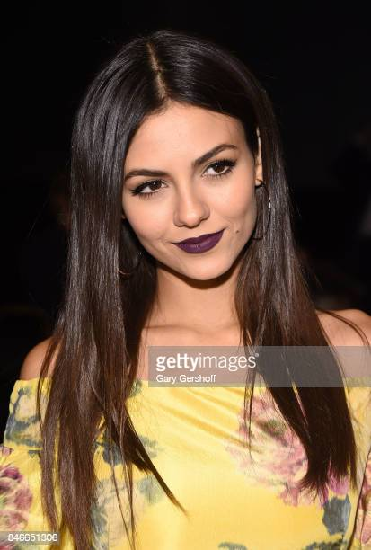 Actress Victoria Justice attends the Marchesa fashion show during New York Fashion Week at Gallery 1 Skylight Clarkson Sq on September 13 2017 in New...