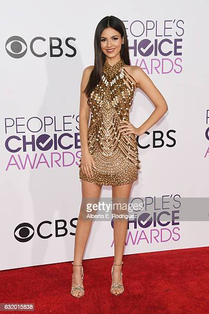 Actress Victoria Justice attends the People's Choice Awards 2017 at Microsoft Theater on January 18 2017 in Los Angeles California