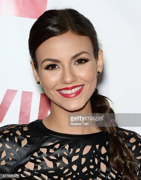 Actress Victoria Justice attends TrevorLIVE New York 2015 at Marriott Marquis Hotel on June 15 2015 in New York City