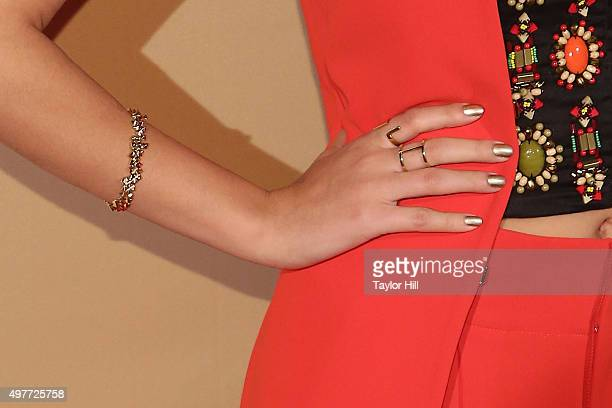 Actress Victoria Justice bracelet detail ring detail attends CNN Heroes An AllStar Tribute at the American Museum of Natural History on November 17...
