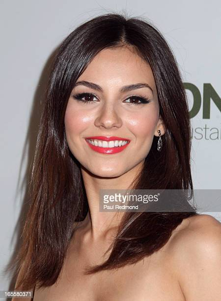 Actress Victoria Justice hosts HM's Exclusive Conscious Collection Launch Party at HM Sunset Strip on April 4 2013 in West Hollywood California