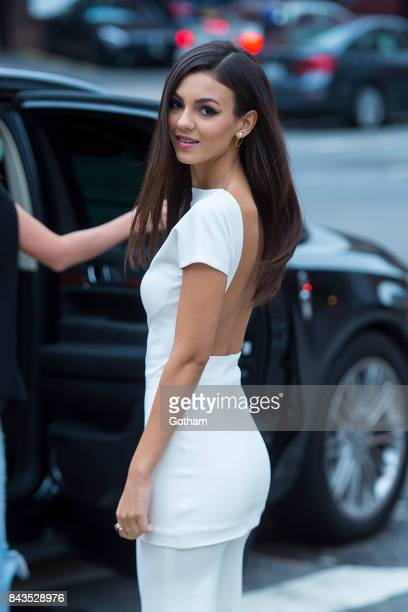 Actress Victoria Justice is seen in Tribeca on September 6 2017 in New York City