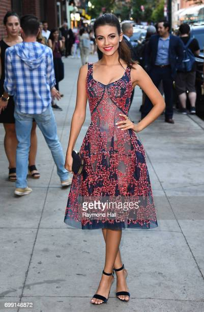 Actress Victoria Justice is seen in walking in Soho on June 20 2017 in New York City