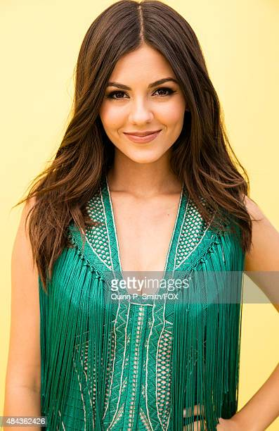 Actress Victoria Justice poses for a portrait during the 2015 Teen Choice Awards FOX Portrait Studio at Galen Center on August 16 2015 in Los Angeles...