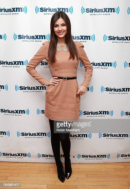 Actress Victoria Justice visits at SiriusXM Studio on October 22 2012 in New York City