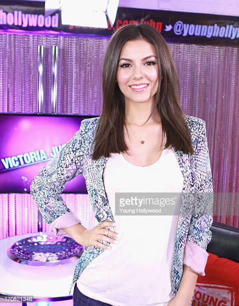 Actress Victoria Justice visits the Young Hollywood Studio on June 18 2013 in Los Angeles California