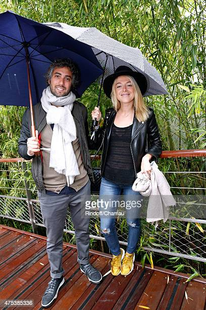 Actress Victoria Monfort and Wierzba attend the 2015 Roland Garros French Tennis Open Day Eight on May 31 2015 in Paris France