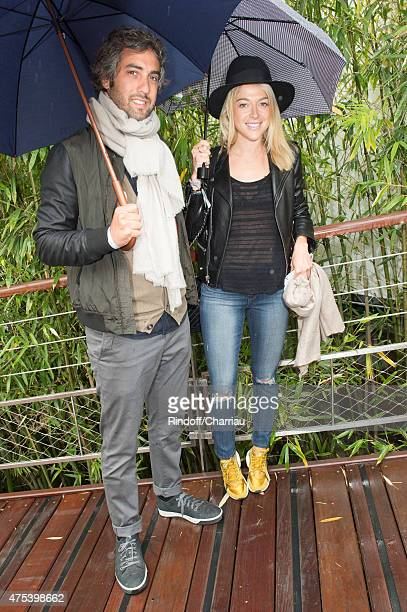 Actress Victoria Monfort and Wierzba attend the French open at Roland Garros on May 31 2015 in Paris France