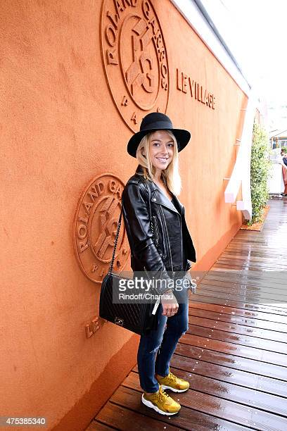 Actress Victoria Monfort attends the 2015 Roland Garros French Tennis Open Day Eight on May 31 2015 in Paris France
