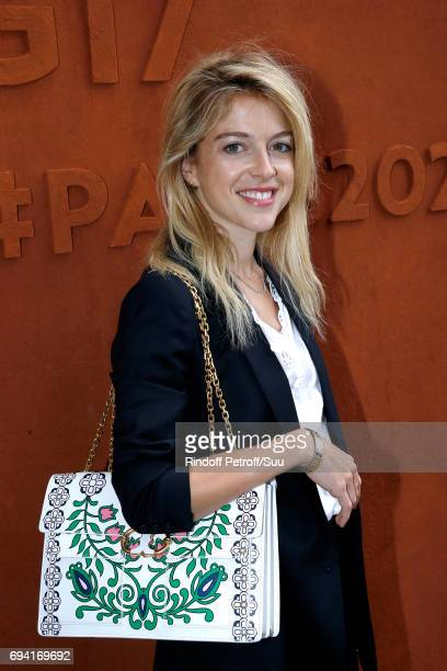 Actress Victoria Monfort attends the 2017 French Tennis Open Day Thirteen at Roland Garros on June 9 2017 in Paris France