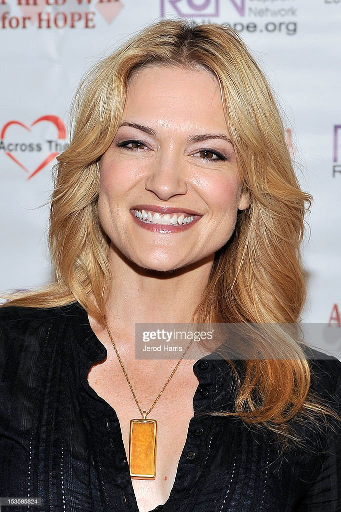 Actress Victoria Pratt arrives at 'In To Win For Hope' No Limit Texas Hold'em Celebrity Charity Poker Tournament at Commerce Casino on October 6, 2012 in City of Commerce, California.