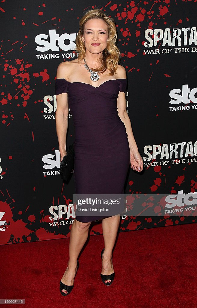 Actress Victoria Pratt attends the premiere of Starz's 'Spartacus: War of the Damned' at Regal Cinemas L.A. Live on January 22, 2013 in Los Angeles, California.