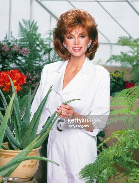 Actress Victoria Principal poses for a portrait in 1990 in Los Angeles California